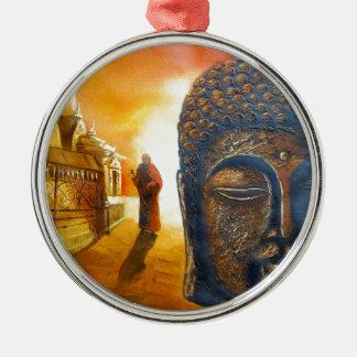 Ornamento De Metal Senhor Gautama Buddha