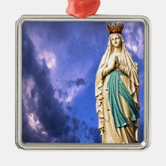 Ornamento De Metal Senhora de Lourdes