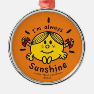 Ornamento De Metal Senhorita pequena Luz do sol | eu sou sempre luz