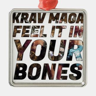 Ornamento De Metal Sensação de Krav Maga ele em seus ossos