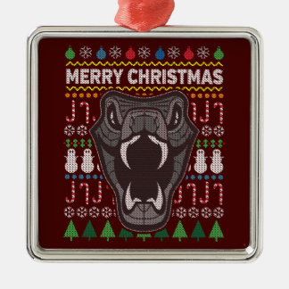 Ornamento De Metal Série feia dos animais selvagens da camisola do