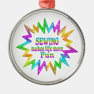 Ornamento De Metal Sewing mais divertimento