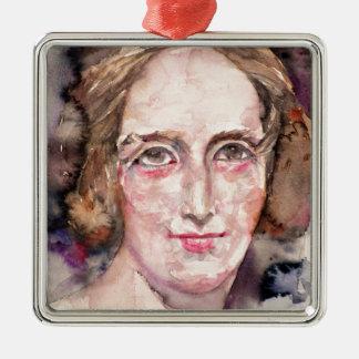 Ornamento De Metal shelley de mary - retrato da aguarela