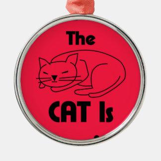 Ornamento De Metal SHUSH! O gato está dormindo