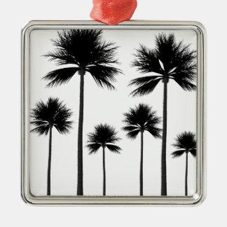 Ornamento De Metal Silhueta da palmeira