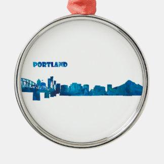 Ornamento De Metal Silhueta da skyline de Portland