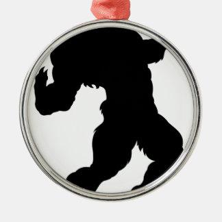 Ornamento De Metal Silhueta do homem-lobo