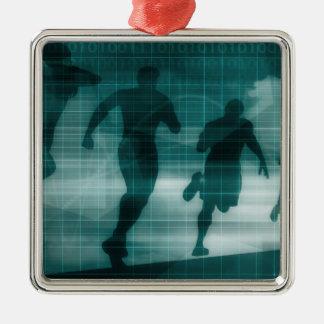 Ornamento De Metal Silhueta do software do perseguidor do App da