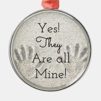 Ornamento De Metal Sim, são TODA A mina! Grande família