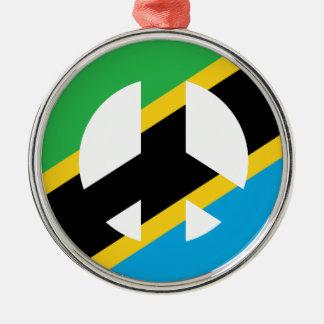 Ornamento De Metal Símbolo de paz tanzaniano