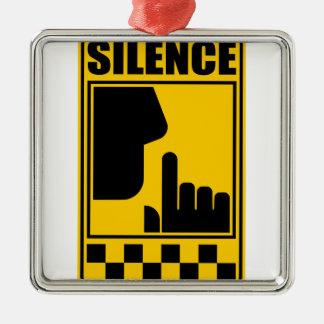 Ornamento De Metal Sinal amarelo do silêncio