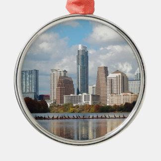 Ornamento De Metal Skyline de Austin Texas