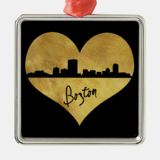 Ornamento De Metal Skyline de Boston