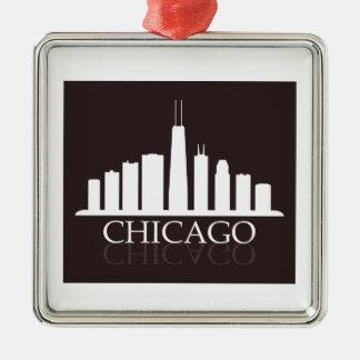 Ornamento De Metal skyline de Chicago