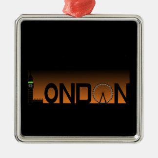 Ornamento De Metal Skyline de Londres