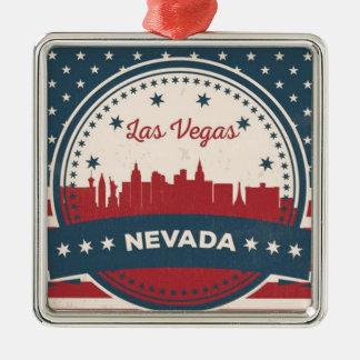 Ornamento De Metal Skyline retro de Las Vegas