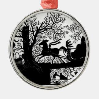Ornamento De Metal Sleigh_Ride_Silhouette