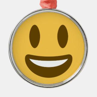 Ornamento De Metal Smiley emoji