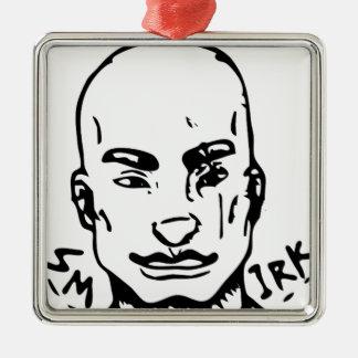Ornamento De Metal Smirk da rua do agente