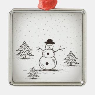 Ornamento De Metal snowman2