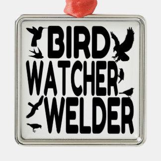 Ornamento De Metal Soldador do observador de pássaro