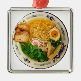 Ornamento De Metal Sopa de macarronete dos Ramen da carne de porco