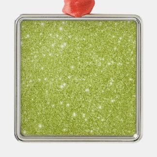 Ornamento De Metal Sparkles do brilho do verde limão