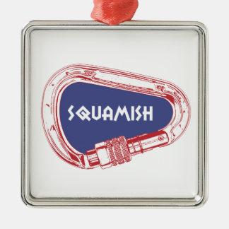 Ornamento De Metal Squamish que escala Carabiner