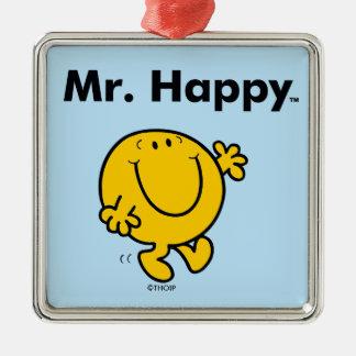 Ornamento De Metal Sr. Feliz Ser Sempre Feliz do Sr. Homem  