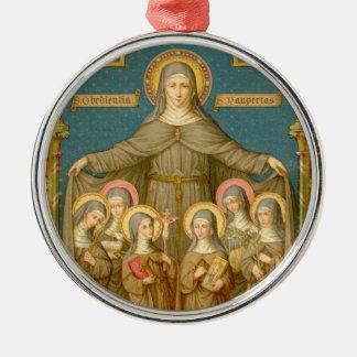 Ornamento De Metal St. Clare de Assisi & das freiras (SAU 27)