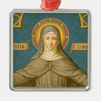 Ornamento De Metal St. Clare de Assisi (SAU 27)