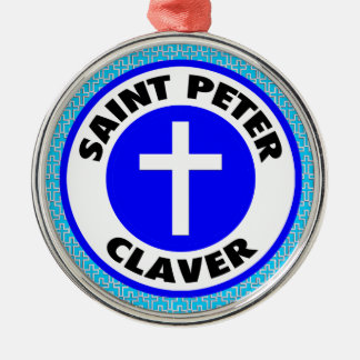 Ornamento De Metal St Peter Claver