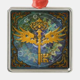 Ornamento De Metal Steampunk voou a chave