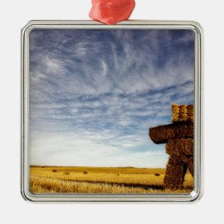Ornamento De Metal Strawman da pradaria