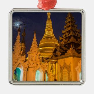 Ornamento De Metal Stupa dourado e templos