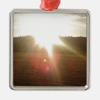 Ornamento De Metal Sun dourado 2
