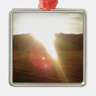 Ornamento De Metal Sun dourado 3