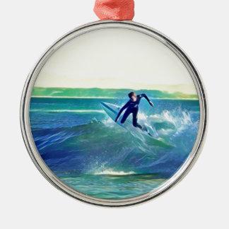 Ornamento De Metal Surfista