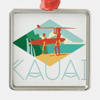 Ornamento De Metal Surfistas de Kauai