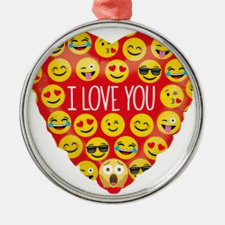 Ornamento De Metal Surpreendendo eu te amo o presente de Emoji