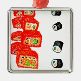 Ornamento De Metal Sushi Watercolor3 ajustado