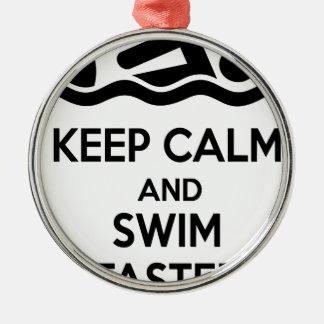 Ornamento De Metal swimming