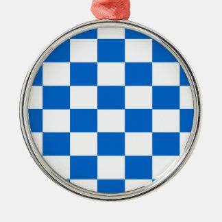 Ornamento De Metal Tabuleiros de damas azuis e brancos