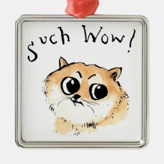 Ornamento De Metal Tal wow! Doge Meme