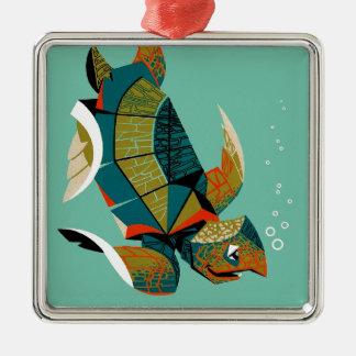 Ornamento De Metal Tartaruga de mar australiana animador