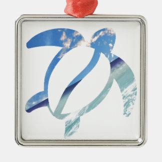 Ornamento De Metal Tartaruga-mar-céu