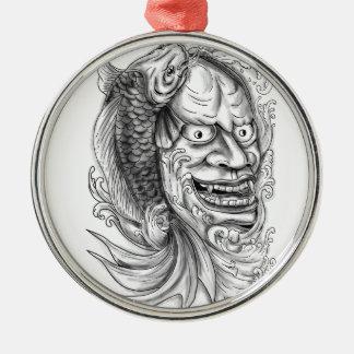 Ornamento De Metal Tatuagem de conexão em cascata da água dos peixes