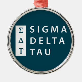 Ornamento De Metal Tau | do delta do Sigma empilhado