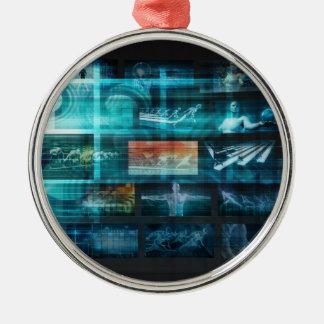 Ornamento De Metal Tecnologia da informação ou ELE Infotech como uma