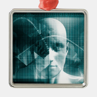 Ornamento De Metal Tecnologia futurista da ciência médica como uma
